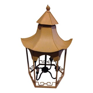 Yellow Pagoda Iron Light Pendant