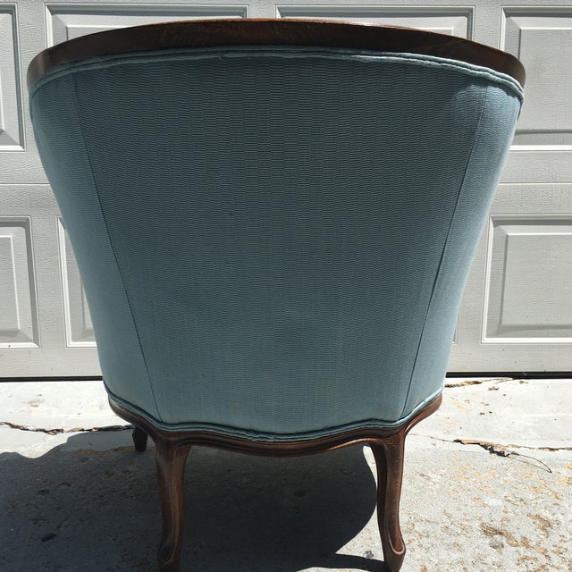French Barrel Back Chair & Ottoman - A Pair - Image 6 of 9