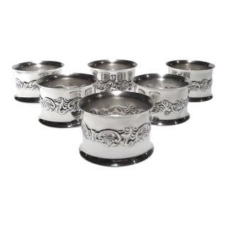 Wallace Baroque Napkin Rings - Set of 6