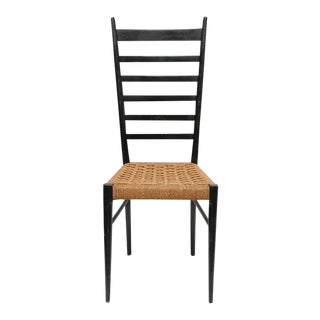 Italian Gio Ponti Ladder Back Chairs - A Pair