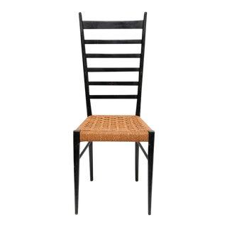 Italian Gio Ponti Ladder Back Chairs - A Pair