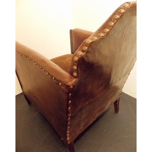 Vintage French Leather Club Chair - Image 8 of 8