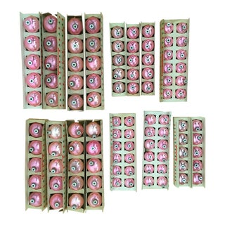 Pink Shiny Brite Christmas Ornaments - Set of 125