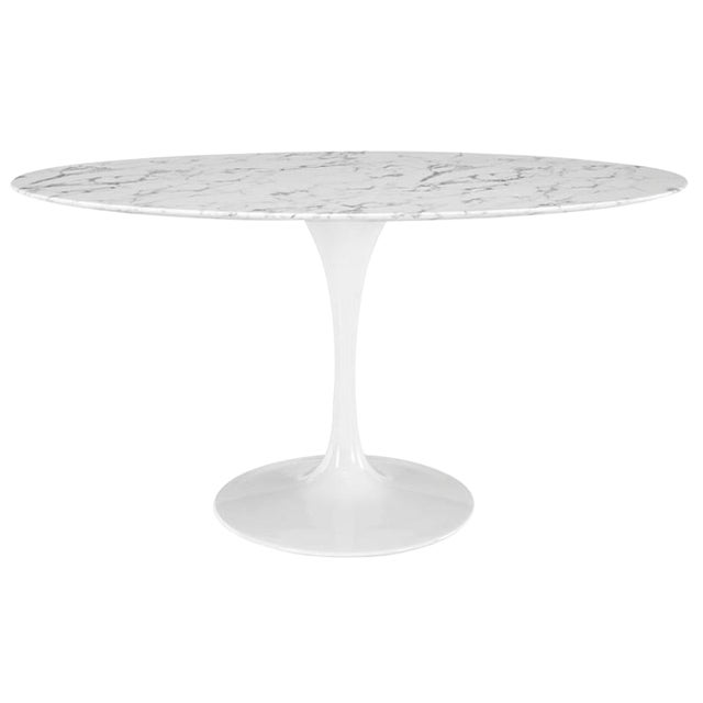 Image of Tulip Style Marble Top Dining Table