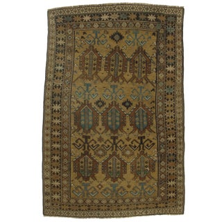 """Hand Knotted Russian Caucasian Rug - 3'10"""" X 5'9"""""""