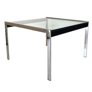 Kjaerholm Style Chrome Glass Table