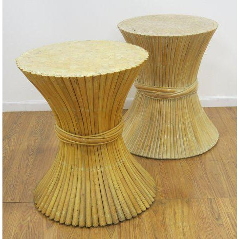 McGuire Rattan Table Bases - Set of 2 - Image 2 of 4