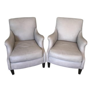Grey Leather Cisco Chairs - A Pair