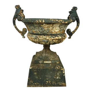 Late 19th Century Cast Iron Urn, 1870