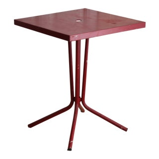 Vintage French Red Garden Table