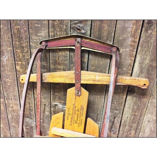 Vintage Weathered Wood & Metal Runner Sled -- Flexible Flyer Model 51J - Image 8 of 11
