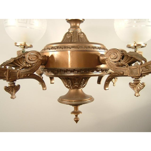 Renaissance Spelter Gas Fixture (4-Light) - Image 7 of 8