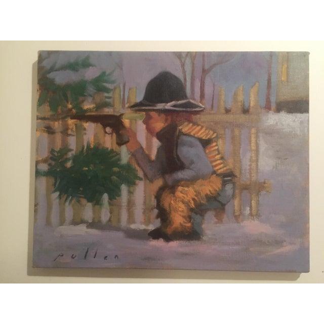 "Mark Pullen ""Little Boy"" Original Oil Painting - Image 2 of 6"