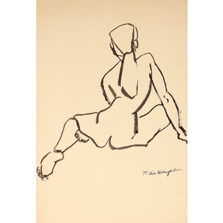 R. Van Wingerden Vintage Nude Figure Drawing