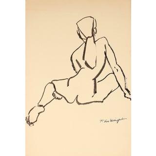 R. Van Wingerden Vintage Nude Figure Drawing
