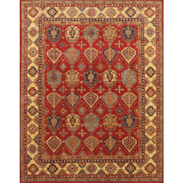 "Image of Pasargad Kazak Collection Red Rug - 7'10"" X 9'8"""