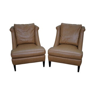 Jessica Charles Custom Faux Ostrich Lounge Chairs - A Pair