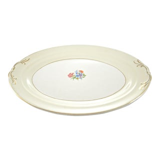 Floral Bouquet Oval Tray