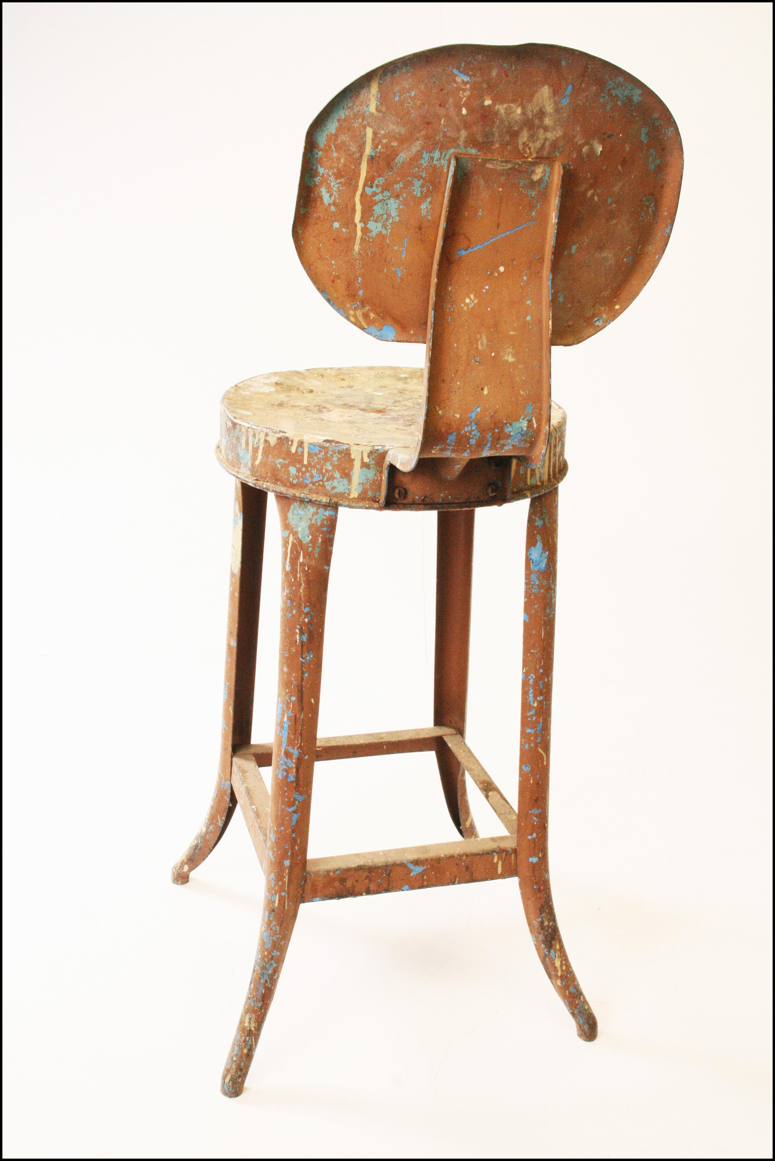 Vintage Industrial Metal Bar Stool Chairish
