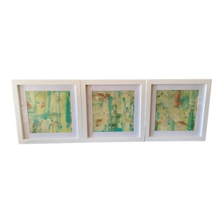 Chartreuse Oil Paintings - S/3