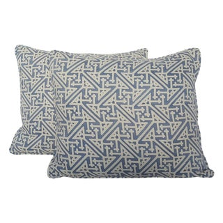 Fortuny Periwinkle Pillows - Pair