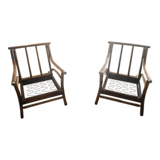 Bamboo Side Chairs - A Pair