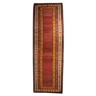 "Early 20th Century Zarand Kilim Carpet Runner - 3'10"" x 11'6"""