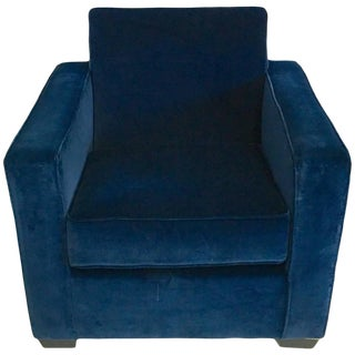 Ralph Lauren Blue Velvet Club Chair