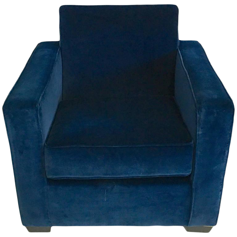 ralph lauren blue velvet club chair - Blue Velvet Chair