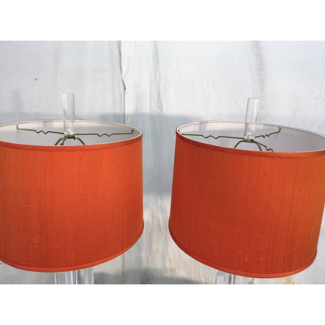 Mid-Century Acrylic Lamps - a Pair - Image 4 of 11