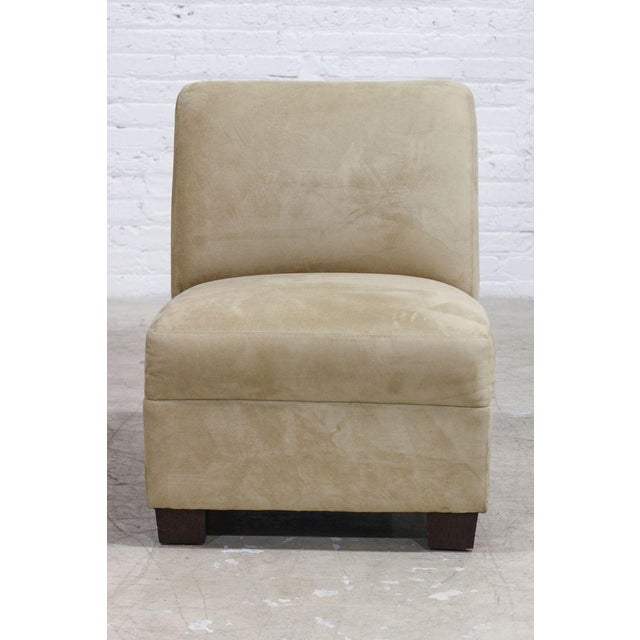 Image of Camel-Color Suede Chair