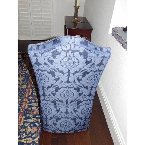 Ethan Allen Mitchell Skirted Chairs - Pair - Image 5 of 6