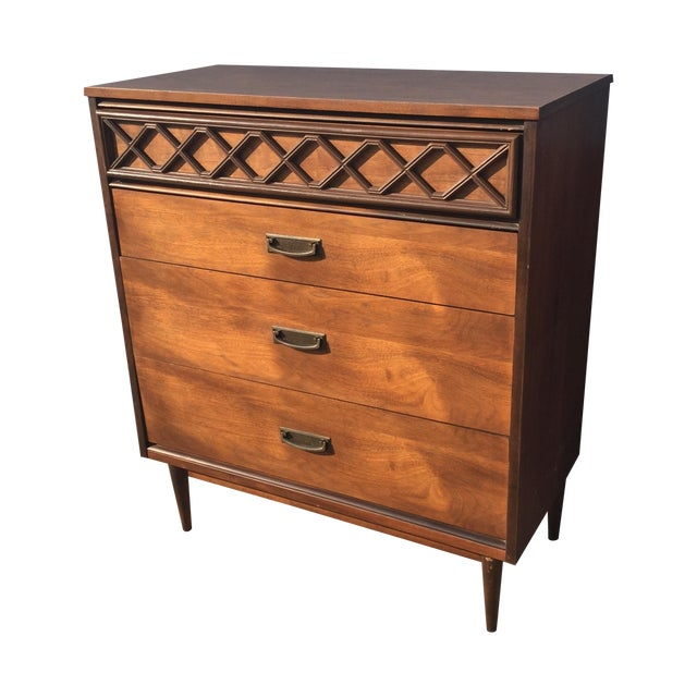 Mid-Century Formica Top Highboy Dresser - Image 1 of 6