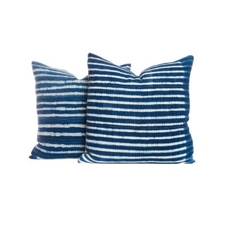 Vintage Indigo Pillows - A Pair
