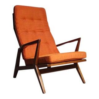 Mid-Century Orange Lounge Chair