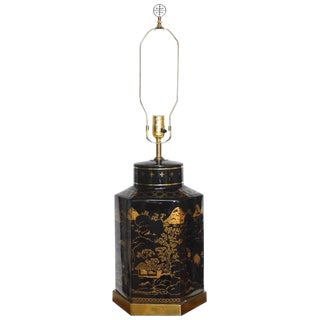 Chinese Porcelain & Tole Table Lamp