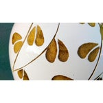 """Image of Le Mani for Roche Bobois 43"""" Wood Inlay Floor Vase"""