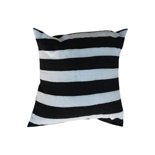 Hand-Dyed African Stripe Motif Cushion - a Pair