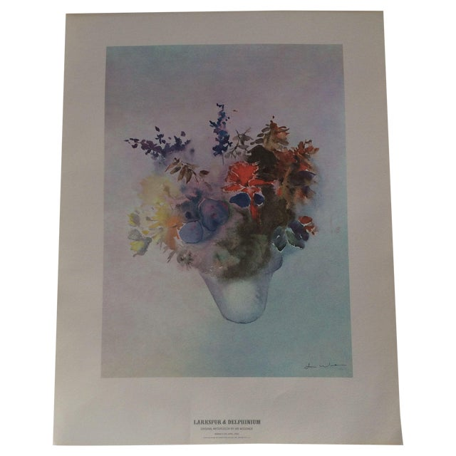 Art Print - Larkspur & Delphinium Flower - Image 1 of 6