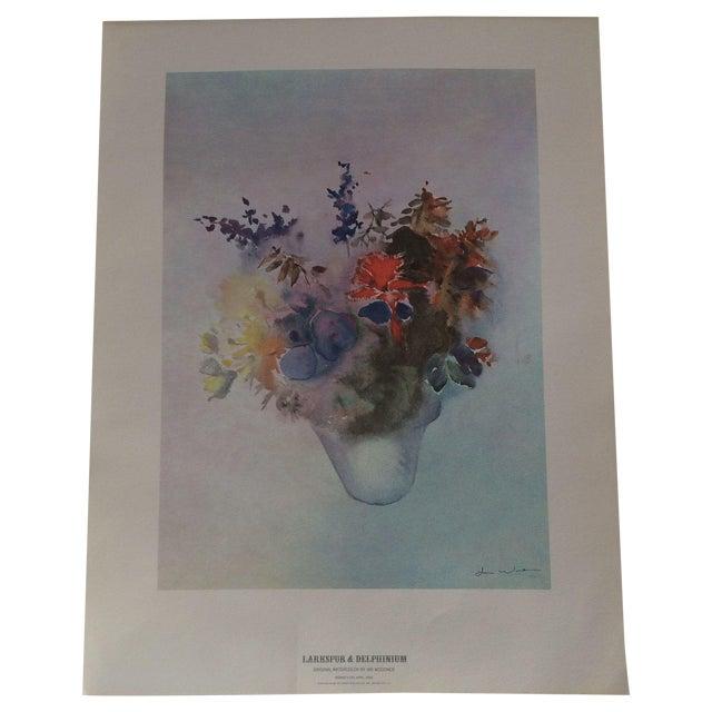 Image of Art Print - Larkspur & Delphinium Flower