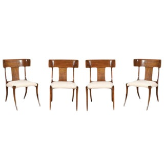 Exquisite Set of Four Klismos Chairs by Stewart MacDougall