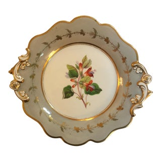 Antique Hand-Painted English Plate