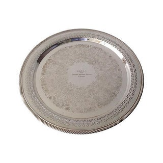 Rogers Reticulated Silver Plate Presentation Serving Tray