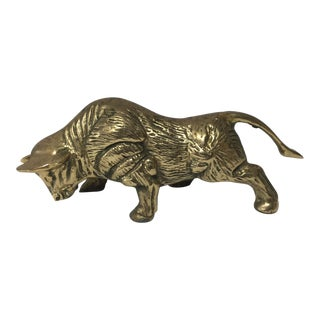 Vintage Solid Brass Bull