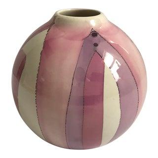 Hand Painted Organic Modern Vase