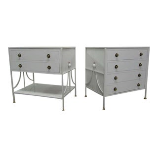 Pair of 1950s French Wrought Iron Chests