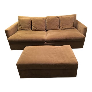 Crate & Barrel Lounge Collection - Sofa and Ottoman