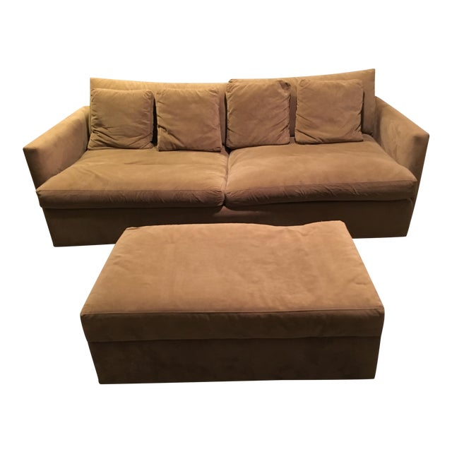 Crate & Barrel Lounge Collection - Sofa and Ottoman - Image 1 of 4