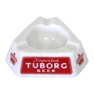 Danish Tuborg Beer Opalex Ashtray