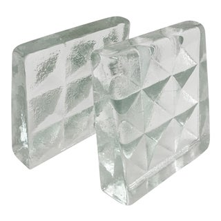 Blenko Glass Bookends- Pair